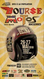 Bourse Motos anciennes, les 26-27 mai 2018 @ Bordeaux Darwin Caserne Niel 87 quai de Queyries 33100