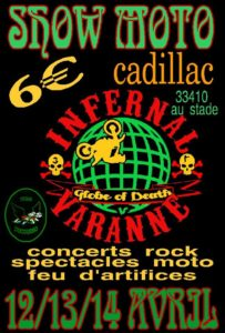 Show moto à Cadillac, les 12-13-14 avril 2019 @ Cadillac