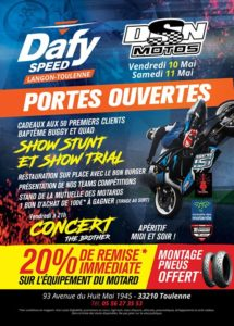 Portes ouvertes Dafy Speed-DSN Motos les 10-11 mai 2019 @ Dafy Speed