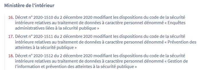 Capture d'écran du Journal Officiel du 4 décembre